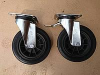 Колесо KASTOR 200 мм Поворотное без Стопа. Для Лесов/ Вышек/ Мусорных баков, фото 1