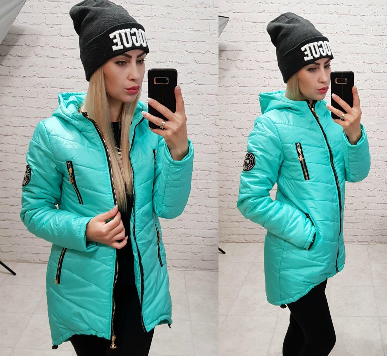 Куртка зимняя, модель 300, цвет - бирюза, 42, 44, 46