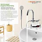 Проточный водонагреватель Delimano душ экран, кран мгновенного нагрева воды, бойлер в стиле Делимано нижнее, фото 8