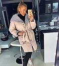 Женская куртка-Пальто с объемным капюшоном 18kr167, фото 2