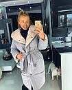 Женская куртка-Пальто с объемным капюшоном 18kr167, фото 3