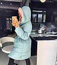 Женская куртка-Пальто с объемным капюшоном 18kr167, фото 5