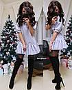 Платье с оборком и рукавом-фонариком 9py2170, фото 2
