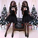 Платье с пышной юбкой и сеткой в цветочек 9py2171, фото 3