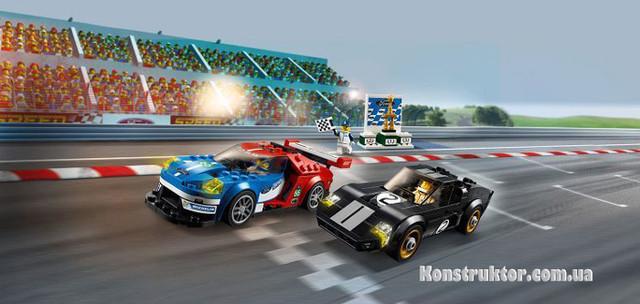 "Конструктор Lepin 28004 ""Автомобиль Ford GT 2016 и Ford GT40 1966"" купить"
