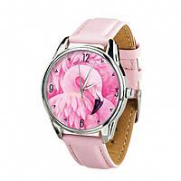 """Часы Ziz """"Фламинго"""" (ремешок пудрово - розовый, серебро) + дополнительный ремешок (4617162)"""