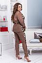 Брючный костюм в больших размерах с кардиганом 53ba1205, фото 3