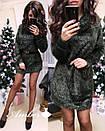 Свободное платье из материала травки 8py2179, фото 3