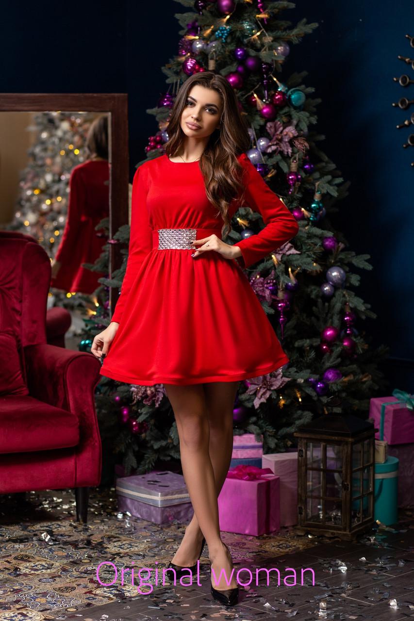 Платье с пышной юбкой и фатиновым подъюбником 2py2189