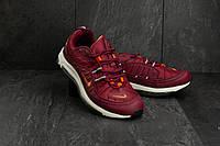 Мужские кроссовки Nike Aiir 97 кожаные бордовые