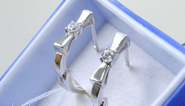 Серебряные серьги - баньте