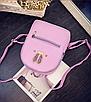 Рюкзак женский кожзам яркий с ушками Фиолетовый, фото 2