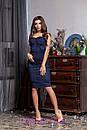 Замшевое платье без бретель с чашками 2py2193, фото 2