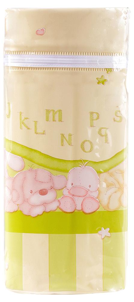 Термоконтейнер Ceba Baby Jumbo 70*80*230мм универсальный  бежевый-салатовый (собачка, утка, слон, мишка)