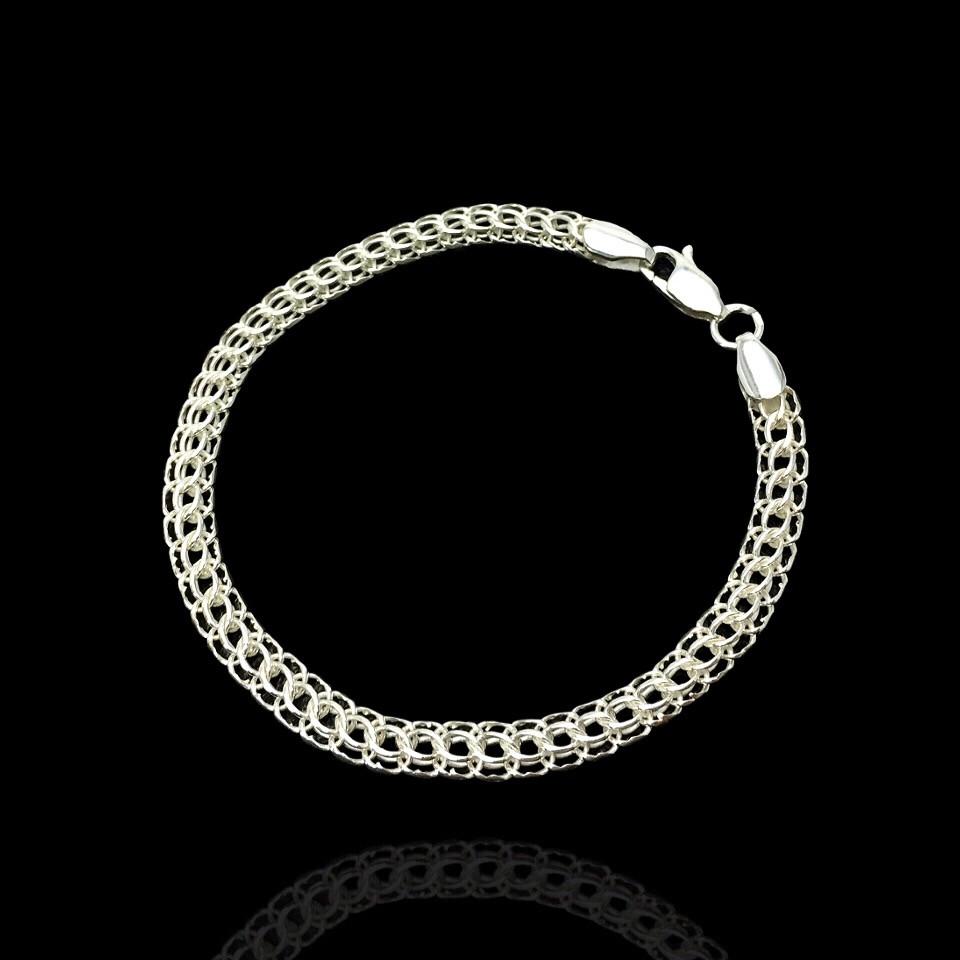 Срібний браслет, 180мм, 9 грам, плетіння Пітон