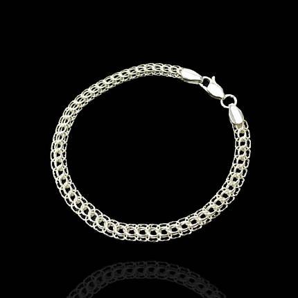 Срібний браслет, 180мм, 9 грам, плетіння Пітон, фото 2