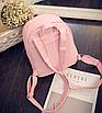 Рюкзак женский кожзам яркий с ушками Черный, фото 5