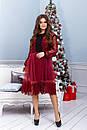 Платье с сеткой и гипюром в больших размерах 38ba1212, фото 2