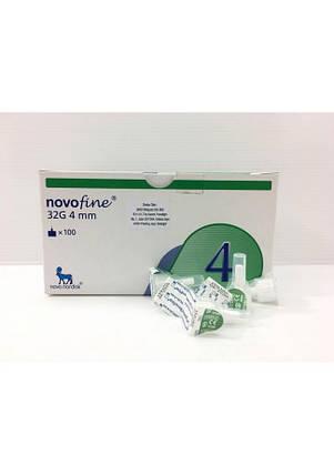 Иглы для инсулиновых шприц-ручек Новофайн 4 мм - Novofine 32G 4mm, #100, фото 2