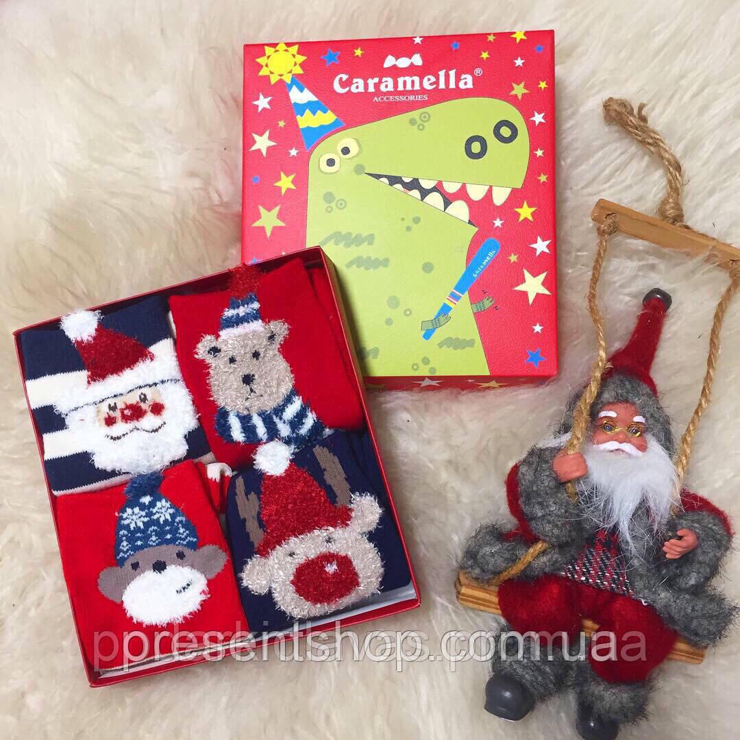 """Носки подарочные Новогодние """"Карамелла"""" на 3-5 лет,4шт/упаковка"""