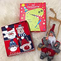 """Носки подарочные Новогодние """"Карамелла"""" на 3-5 лет,4шт/упаковка, фото 1"""