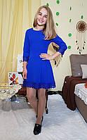 Подростковое платье Милана р. 146-164 электрик
