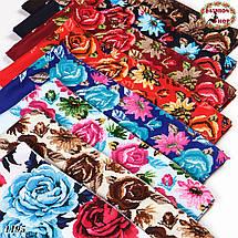 Женский шерстяной платок Цветочная тайна, фото 3