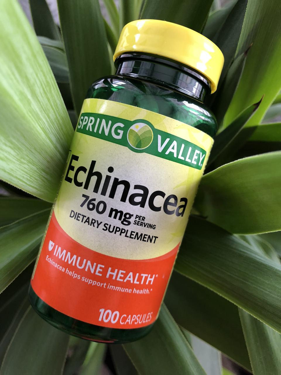 Эхинацея в таблетках для имунной системы Spring Valley Echinacea, 100шт
