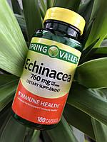 Эхинацея в таблетках для имунной системы Spring Valley Echinacea, 100шт, фото 1