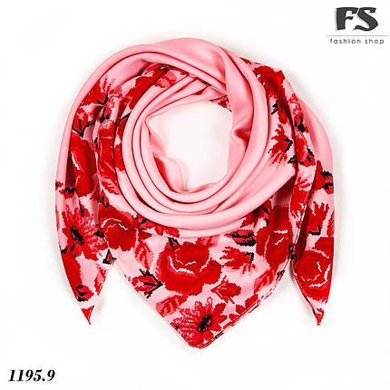 Женский шерстяной платок Цветочная тайна, фото 2