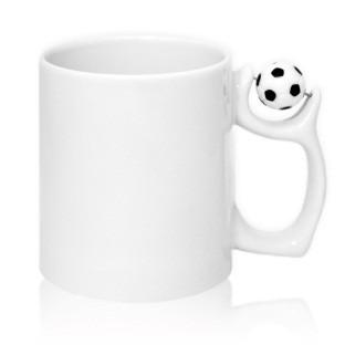 Чашка белая для сублимации с футбольным мячом 330 мл