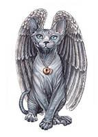 """Листівка """"Ангельський кіт"""""""