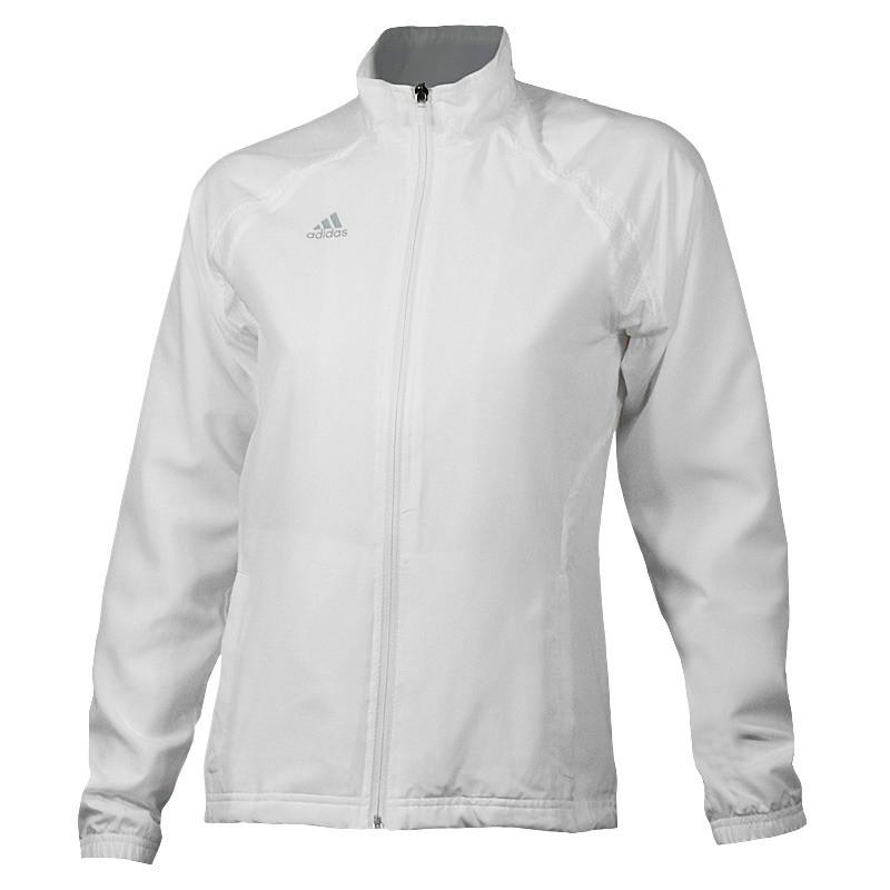 Ветровка спортивная женская adidas BARRICADE V39008 (белая, для тренировок и на каждый день, бренд адидас)