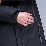 Чоловіча зимова куртка (камуфляж), чорного кольору., фото 7