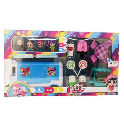 Игровой набор LOL Unicorn автобус с мороженым