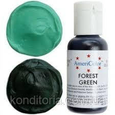 Краситель гелевый Америколор (Americolor) Зеленый лес ( Forest Green) 21г., № 109
