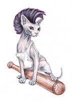 """Листівка """"Кошеня з битою"""", фото 1"""