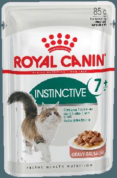 Влажный корм Royal Canin (Роял Канин) Instinctive +7 для кошек при чувствительности десен и зубов, 85гx12 шт
