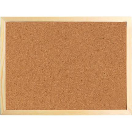 Доска корковая Axent 9602-A 60х90 см, деревянная рамка, фото 2
