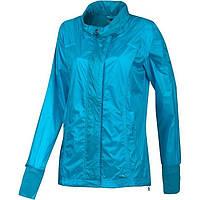 Ветровка спортивная женская adidas adiZERO AL Q3 Wv O03016 (голубая, нейлон, для тренировок, легкая, адидас)