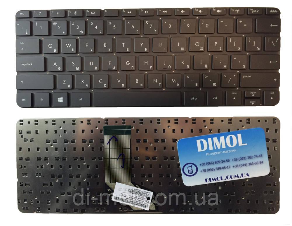 Оригинальная клавиатура для ноутбука HP ENVY X2 11-G, RU, black