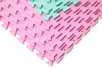 """Мягкий пол (коврик-пазл 45*45*1 см) Eva-Line """"Веселка"""" разноцветный 1 сорт"""