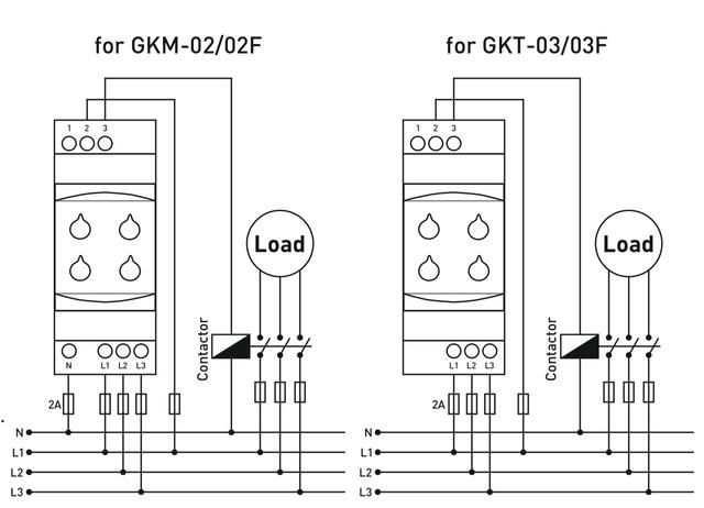 Реле контроля напряжения 3-х фазное (пониженное повышенное)   аналог РНПП