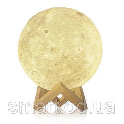 """Детский ночник 3D """"Луна"""" / светильник / лампа / 3D Moon Touch Control 20 см, 3 д ночник"""