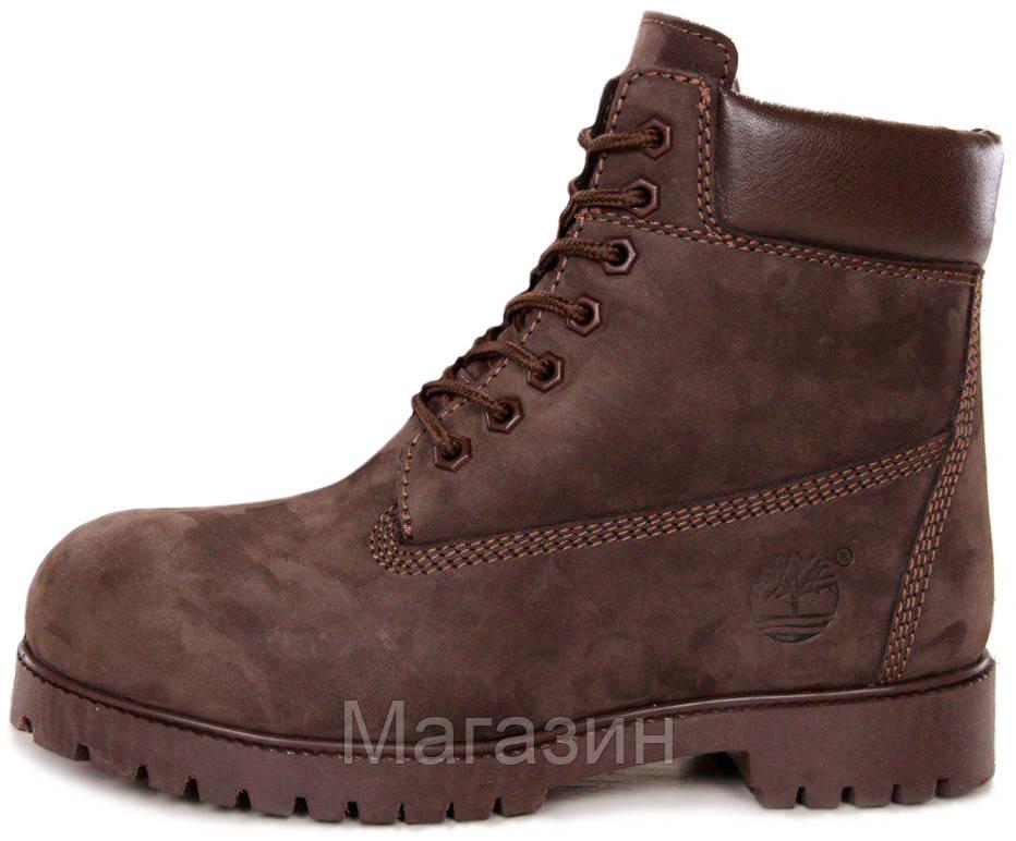Мужские зимние ботинки Timberland 6-Inch Premium Winter Boots Brown зимние  Тимберленд С МЕХОМ коричневые f6b9c415e3823