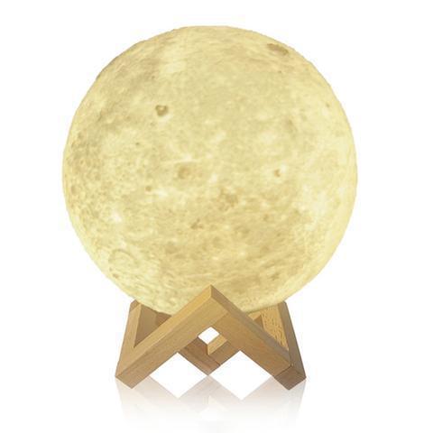 """Детский ночник 3D """"Луна"""" / светильник / лампа / 3D Moon Touch Control 18 см, светильник белый"""