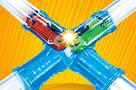 Светящиеся трубопроводные гонки CHARIOTS SPEED PIPES / трубопроводный автотрек / гоночный трек, фото 5