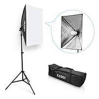 Комплект света ESDDI PS025 (софтбокс 50 x 70 см, стойка, лампа - сумка для переноски)