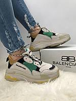 Кроссовки женские Balenciaga Triple S Grey\Yellow. ТОП КАЧЕСТВО!!! Реплика класса люкс (ААА+), фото 1