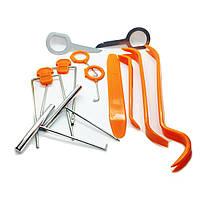 Набор инструментов съемники лопатки металл + пластик (12 элементов)